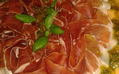 Prosciutto, Melone, Mandelpesto